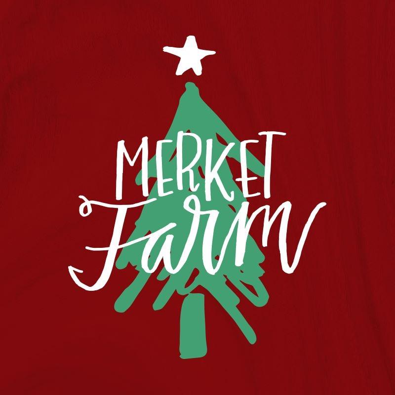 Christmas Tree Farm Logo.Merket Christmas Tree Farm